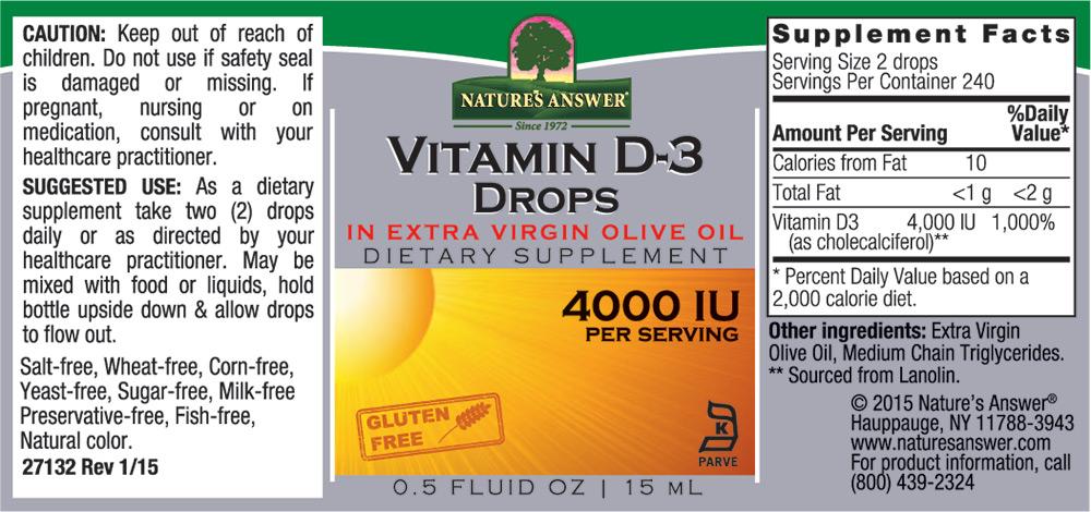 Vitamin D3 Drops (15ml)